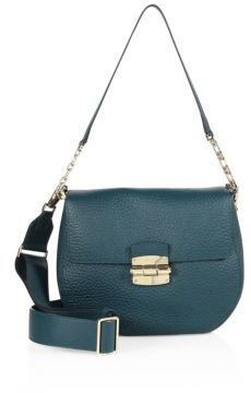 Furla Club Leather Saddle Crossbody Bag