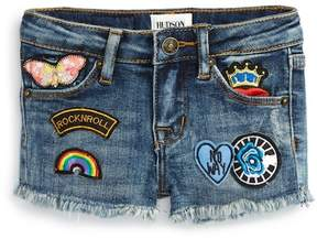 Hudson Patched Up Cutoff Shorts (Baby Girls)