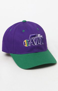 Mitchell & Ness New Orleans Jazz Strapback Dad Cap