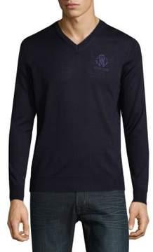 Roberto Cavalli V-Neck Wool Sweater