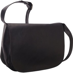 Le Donne Leather Classic Womens Full Flap Bag