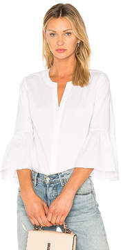 1 STATE Bell Sleeve Button Down Blouse