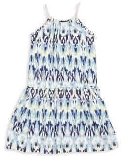 Imoga Toddler's, Little Girl's & Girl's Mia Ikat-Print Dress