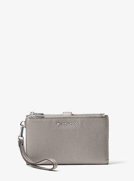 Michael Kors Adele Leather Smartphone Wristlet - GREY - STYLE