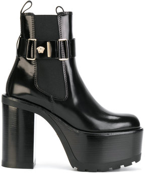 Versace platform ankle boots