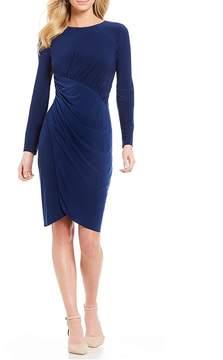 Adrianna Papell Matte Jersey Draped Wrap Skirt