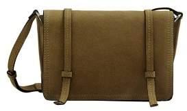 MANGO Leather cross body bag