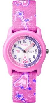 Timex Kids Pink Analog Watch, Ballerina Elastic Fabric Strap