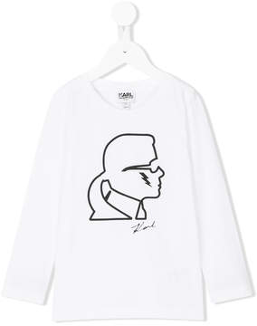 Karl Lagerfeld graphic top