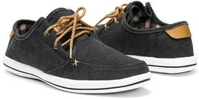 Muk Luks Black Josh Linen Boat Shoe - Men