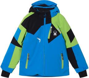 Spyder Blue and Green Boys Leader Jacket