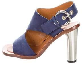 Celine Nubuck Slingback Sandals