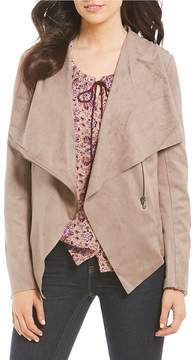 Vigoss Jeans Faux-Suede Wrap Jacket