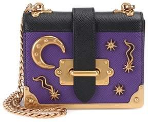 Prada Embellished leather shoulder bag