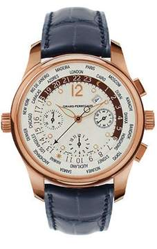 Girard Perregaux Worldwide Time Control 18kt Rose Gold Black Men's Watch