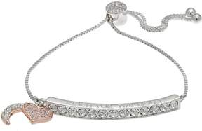 Brilliance+ Brilliance Two Tone Reach For The Moon Bolo Bracelet with Swarovski Crystals