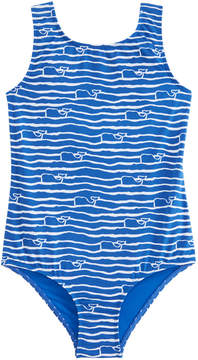 Vineyard Vines Girls Whale Wave One Piece
