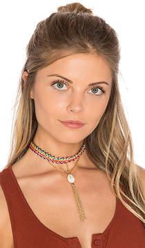 Ettika Rainbow Seashell Choker