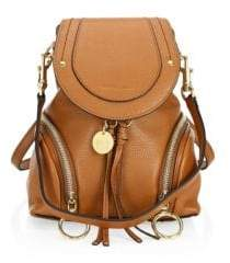 See by Chloe Mini Olga Pebbled Leather Backpack