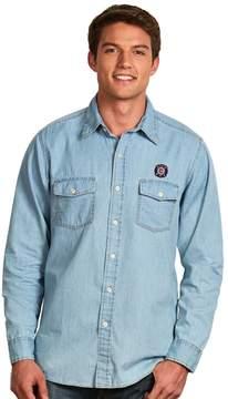 Antigua Men's Chicago Fire Chambray Button-Down Shirt