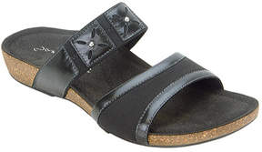 Aetrex Women's Lily Cork Double Band Slip-On