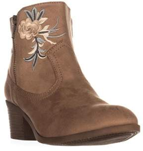 Rock & Candy Loraina Western Ankle Boots, Sand.