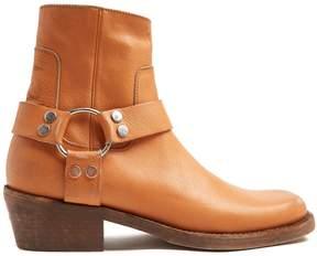 Balenciaga Santiago distressed-leather boots
