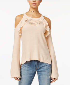 American Rag Juniors' Cold-Shoulder Illusion Sweater, Created for Macy's