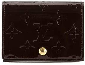 Louis Vuitton Amarante Monogram Vernis Leather Business Card Holder - AMARANTE - STYLE
