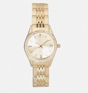 Avenue Stone Bezel Link Watch