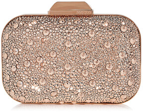 Jimmy Choo CLOUD Rose Gold Crystal Covered Clutch Bag