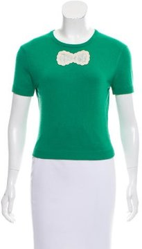 Behnaz Sarafpour Cashmere-Blend Short Sleeve Sweater