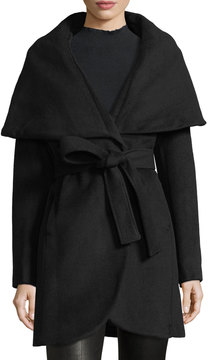 T Tahari Wool-Blend Wrap Coat