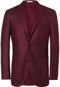 Boglioli Red Slim-Fit Wool Blazer
