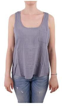 Sun 68 Women's Grey Cotton Tank Top.