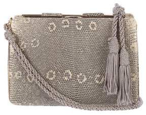 Judith Leiber Ring Lizard Shoulder Bag