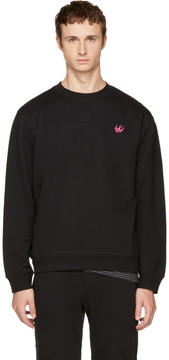 McQ Black Swallow Badge Sweatshirt