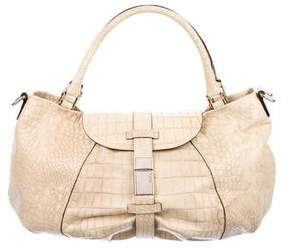 Max Mara Embossed Leather Satchel
