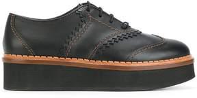 Tod's flatform wingtip shoes