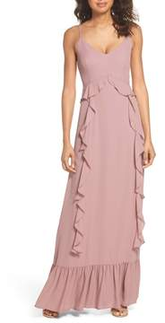 WAYF Loyal Ruffle Empire Maxi Dress
