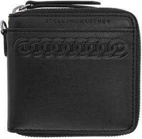 Stella McCartney Black Cord Zip Wallet