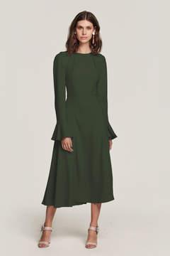 Yahvi Olive Green Midi Dress