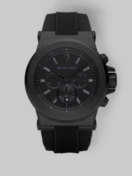 Michael Kors Round Stainless Steel Chronograph Watch