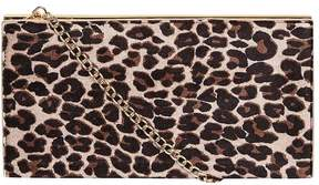 Leopard Structured Clutch Bag