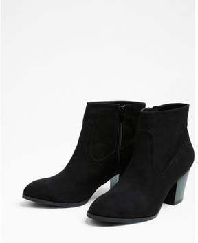 Express western block heel ankle booties