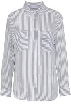 Equipment Signature Striped Washed-Silk Shirt