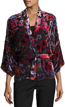 BA&SH Dulce Velvet Burnout Kimono Topper