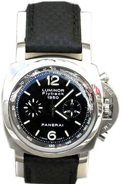 Panerai Luminor Chrono Flyback Automatic Stainless Steel 44mm Leather Watch 1950