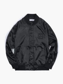 Have A Good Time Satin Raglan Jacket - Black