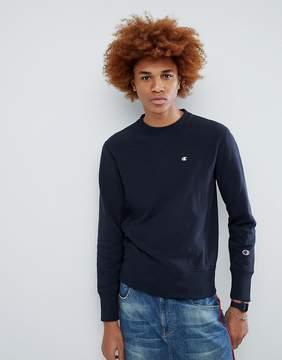 Champion Sweatshirt With Small Logo In Navy